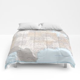 High detail map of the Usa with roads, Keane - ORDER PRINTS IN SIZE XL (small labels) Comforters