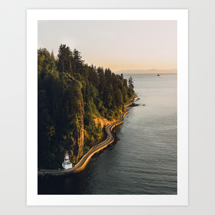 A Curvy Park - Vancouver, British Columbia, Canada Kunstdrucke