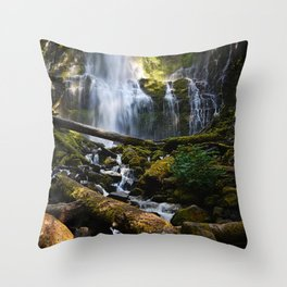 Lower Proxy Falls Throw Pillow