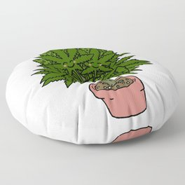 Blushing Cannabis Floor Pillow