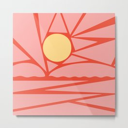 i can stay grateful for the sun, though it's getting in my eyes Metal Print