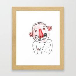 Weirdy Beardy Framed Art Print