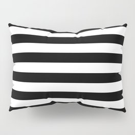Black White Stripe Minimalist Pillow Sham