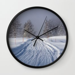 Yellowstone National Park - Road to Mud Volcano Wall Clock