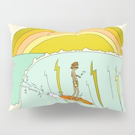 gerry lopez pipeline 70s daydreams // retro surf art by surfy birdy Pillow Sham