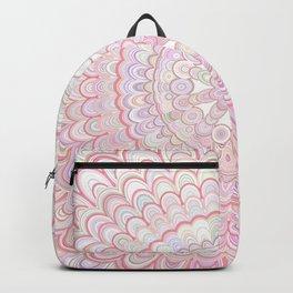 Light Coral and White Mandala Backpack