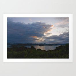 Bay of Islands Morning Clouds Art Print