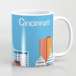 Cincinnati, Ohio - Skyline Illustration by Loose Petals Coffee Mug