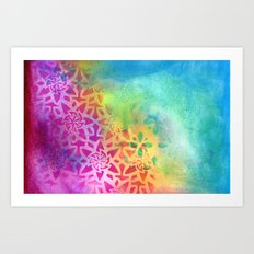 Between the pink and the blue Art Print