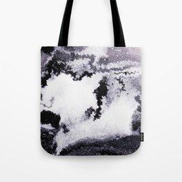 titanium white / carbon black / silver Tote Bag