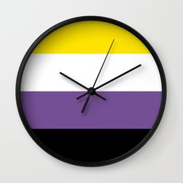 Gender Non-Binary Flag Wall Clock