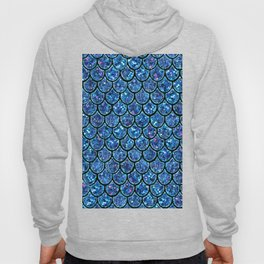 Sparkly Turquoise & Blue & Glitter Mermaid Scales Hoody