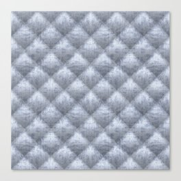 Quilted Soft Blue Velvety Pattern Canvas Print
