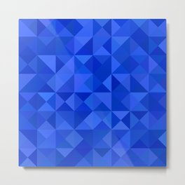 Blue pyramids Metal Print