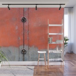 Red over Grey Wall Mural