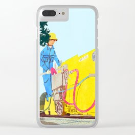 The asphalt cutter Clear iPhone Case