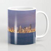 seattle Mugs featuring Seattle by Ren Davis