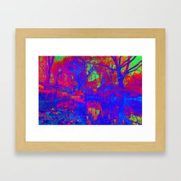 Atomic Garden Framed Art Print