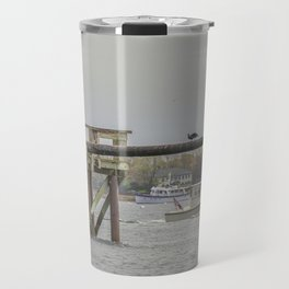 Cormorants on the Greasy Pole Travel Mug