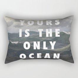 Ocean Approaching Rectangular Pillow