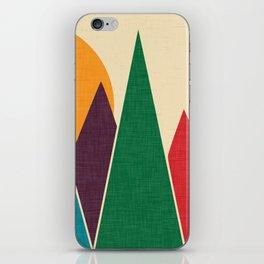 solar mountain #homedecor #midcentury iPhone Skin