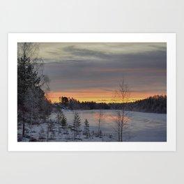 January Morning Art Print