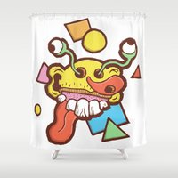 kevin russ Shower Curtains featuring Burstin by Kevin Berquist by UCO Design