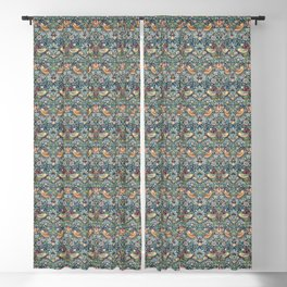 Strawberry Thief by William Morris, 1883 Blackout Curtain