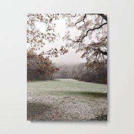 White view Metal Print