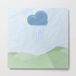 Hills and Rain Metal Print