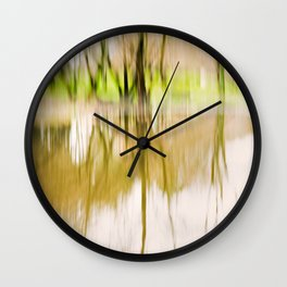 Wood Light Painting - Reflex in the Water. Wall Clock
