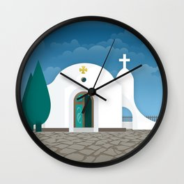 Rhodes, The chapel of Agia Sophia (GR) Wall Clock