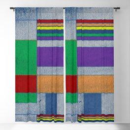 Mid-Century Modern Art - Rainbow Pride 1.0 Blackout Curtain