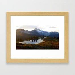 Elfin lake twilight II Framed Art Print