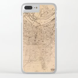 Map Of Louisville 1873 Clear iPhone Case