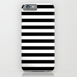 Abstract Black and White Stripe Lines 12 iPhone Case
