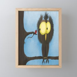 Oliver the Owl and his Visitor Framed Mini Art Print
