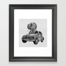 In which a snail accosts a beetle Framed Art Print