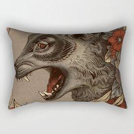 A Little Wolf Moon Rectangular Pillow
