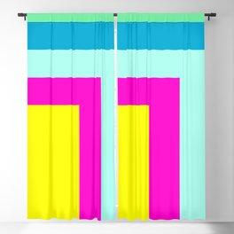 90's colour palette pattern design Blackout Curtain