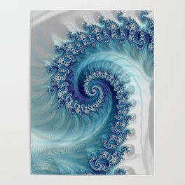 Sound of Seashell - Fractal Art Poster