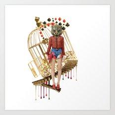 Golden Cage by Lenka Laskoradova Art Print