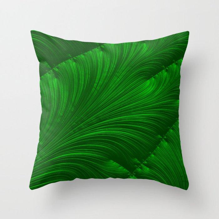 Renaissance Green Throw Pillow