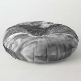 The Catherine / Charcoal + Water Floor Pillow