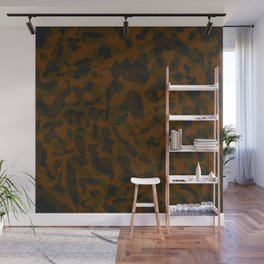 Spotted brown blots on a dark military. Wall Mural