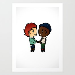 Wylan x Jesper - Six of Crows / Crooked Kingdom (B) Art Print