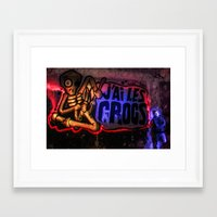 anonymous Framed Art Prints featuring Anonymous by Rewolf