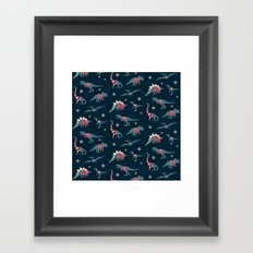 Dinos In Sweaters Framed Art Print
