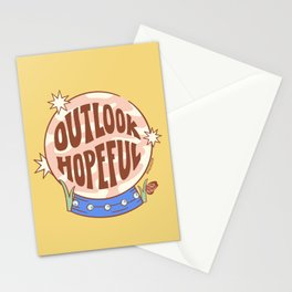 OUTLOOK HOPEFUL (IN YELLOW) Stationery Cards