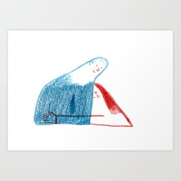 A hug Art Print